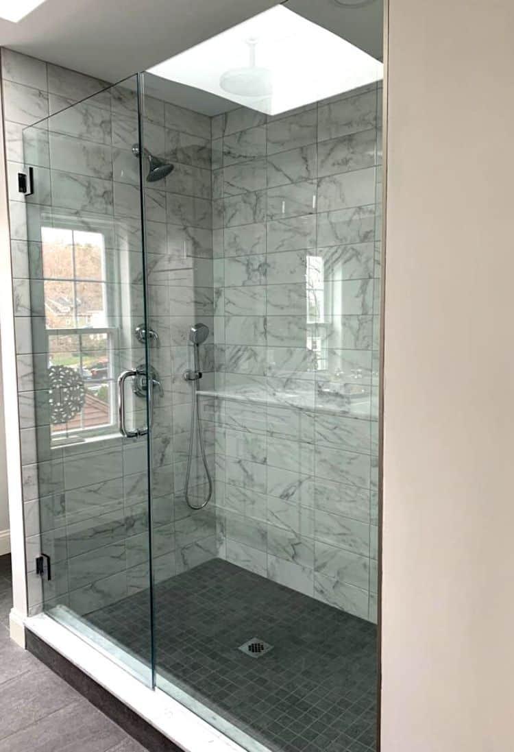 Bathroom Shower with Skylight
